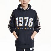 Кофта мальчику синяя H&M 134/140 -8/9 лет
