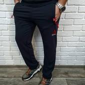 Черный цвет! Спорт штаны Логотип Reebok* Замеры