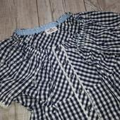 Оринальная блуза в клеточку с карсетной утяжкой от Gina Benotti L 44/46