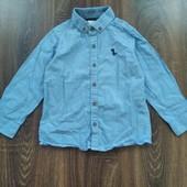 Фирменная котоновая рубашка, как новая. Смотрите мои лоты
