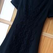 Качество!Стильное черное платье с натуральным кружевом от бренда Ax Paris, в новом состоянии