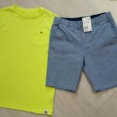 Стоп! Хіт продаж! шикарний брендовий комплект ніонова футболка і шорти .на 10 -12років.140-152р