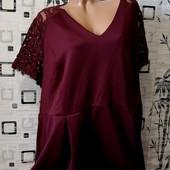 ❤️Эксклюзивное платье из высококачественного плотного дайвинга +кружево Ресничка ❤️