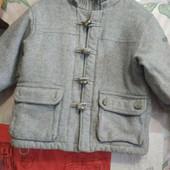 Очень тёплая куртка из кашемира на мальчика 2-3 лет