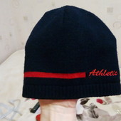 Весенняя шапочка темно-синяя!