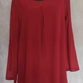 шифоновая удлиненная блуза