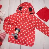 Красивенная ветровка Disney 5-6л,полностью на флисе, шапочка в подарок!