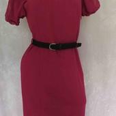 трикотажное платье с шелковой отделкой