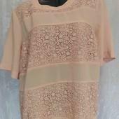 блуза креп шифон с кружевом