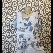 Классная блуза на пышные формы,на 54-56,смотрим замеры!