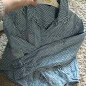 Модная,стильная рубашка на 9-10лет,100%коттон