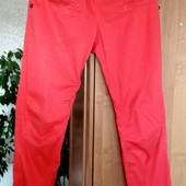 Яркие спортивные штаны с резинками внизу, Сафари, стрейч, Италия, размер - М