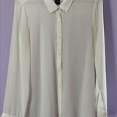 Красивая, нежная рубашка H&M. Воротник расшит паетками белыми p. 8/s