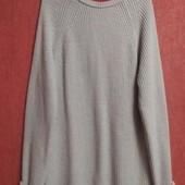 Стильный свитер реглан, вязка лапша