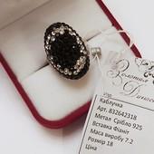 Роскошный подарок на 8 марта! Натуральное серебро 925 пробы черные и белые фианиты