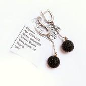 Роскошный подарок на 8 марта! Натуральное серебро 925 пробы черные фианиты