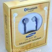 Беспроводные наушники bluetooth headset samsung galaxy с микрофоном, красного цвета