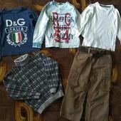 Четыре реглана в отличном состоянии +джинсы в подарок на 3-5 лет.