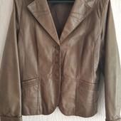 Кожа! Куртка-пиджак! Осень-весна! Отличное состояние, новой вещи!