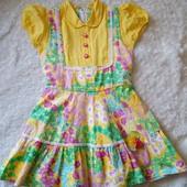 Красивое натуральное платье на девочку 4-5 лет, 100% котон
