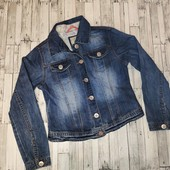 Роскошный джинсовый пиджак как новый