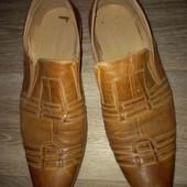 Кожаные натуральные мужские туфли 43