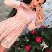 очень красивое платье приталенного кроя из качественного кружева фабричный Китай
