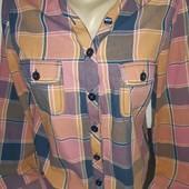 Актуальная рубашка в клетку модная цветовая гамма 100% хлопок!