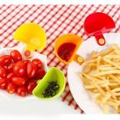 Соусница с клипсой на тарелку. Для кремов, соусов, семечек и прочего