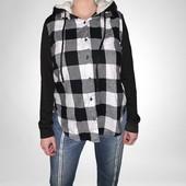 Весна!Модная комбинированная рубашка фланель фирма NO BO на выбор!
