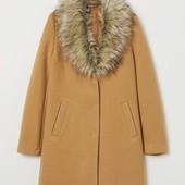 Пальто с теплым воротником H&M