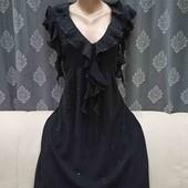 Шифоновое платье с рюшами, р. S