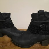 Красивые удобные ботинки ботильоны,38 р, 24,5-25 см