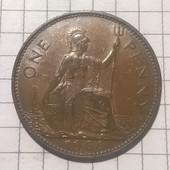 Монета Великобритании 1 пенни 1966