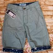 Модные котоновые бермуды на мальчика 8-16 л
