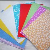 Набор картона з глитером для ярких поделок .9шт./уп