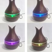 Увлажнитель воздуха Humidifier Ultrasonic Aroma c аромадиффузором и подсветкой коричневый