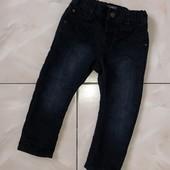 Стоп !❤отличное состояние! На подкладке_Модные фирменные черные джинсы ,1-2 года❤ Много лотов!