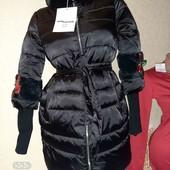 Шикарное пальто куртка деми-зима
