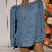 Вау! Обалденная блуза из лёгкого джинса размер М