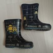 Резиновые сапожки без утеплителя Minions/стелька 14 см