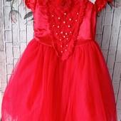 Красивое нарядное платье с фатиновой юбочкой, рр 120, см замеры