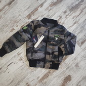 Куртка бомбер утепленный демисезон 6-7лет