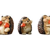 Милейшие ежики набор 3 шт из керамики для декора Melinera Германия