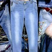 Новые турецкие стрейчевые джинсы скинни р. 29 на бёдра 85-92 см, поб 41 см