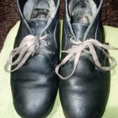 кожаные ботинки на мальчика. на евро зиму или холодную весну, осень