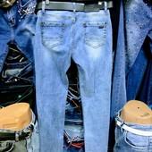 Новые турецкие стрейчевые джинсы р. 28 на бедра 100-106 см, поб 50 см