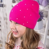Замечательная шапочка для девочек от 5 лет Весна -- осень
