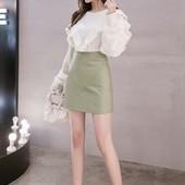 На весну! Супер стильная мини юбка экокожа
