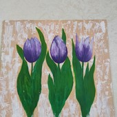 "Интерьерная картина на холсте ""Тюльпаны""на 30на30"